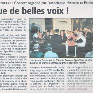 Article de presse - concert d'aussevielle en 2007