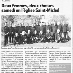 La république - 28 mai 2013 - Présentation du Concert de Gélos