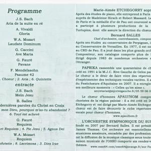 Programme concert Maubourguet 2014