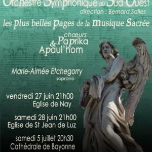 Affiche concert de Maubourguet